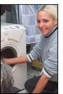 Blonde and Washing Machine