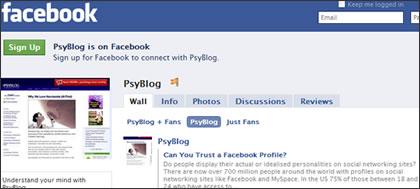 PsyBlog on Facebook